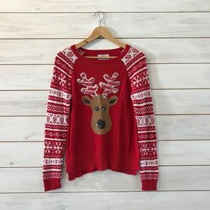Justice Girls Sequin Reindeer Sweater